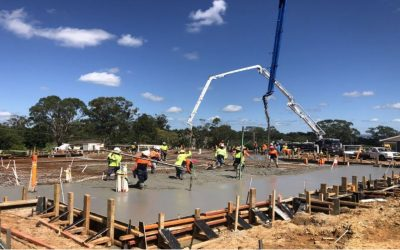 The work commences at Hope Anglican Leppington
